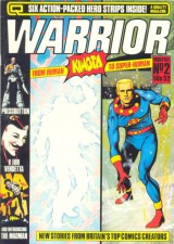 Warrior cover, featuring Marvelman/Miracleman