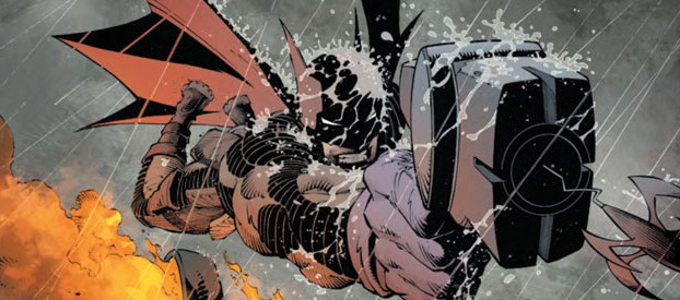 Batman #29 leaping through the air