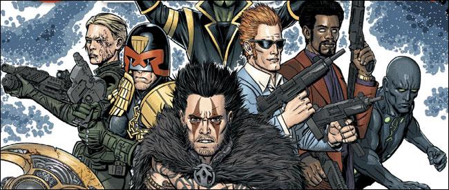 Cover of 2000AD Prog 1874: Judge Dredd, Slaine, Outlier, Sinister Dexter, Jaegir