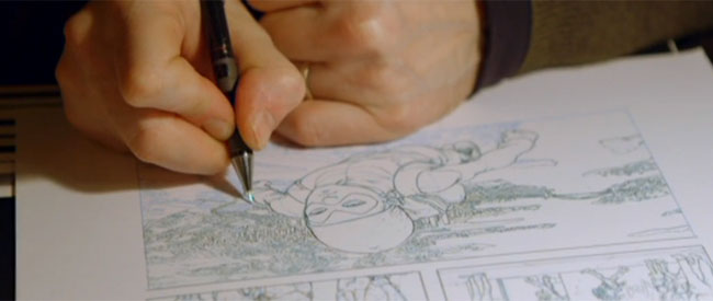 Frank Quitely working on Jupiter's Legacy