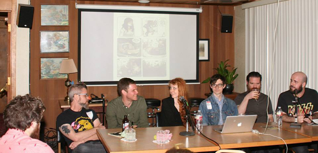 Panel at the Linework NW comics show in Portland, OR