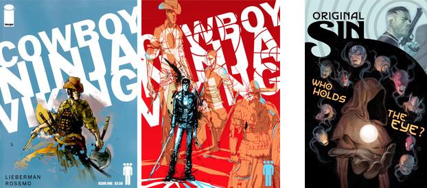 Covers for Cowboy Ninja Vikings (Image Comics) and Original Sin (Marvel Comics)