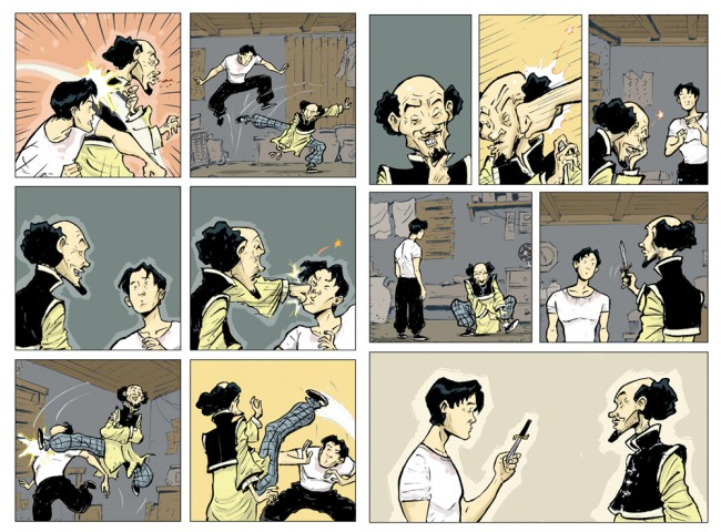 Sonny Liew's final coloured pages from The Shadow Hero