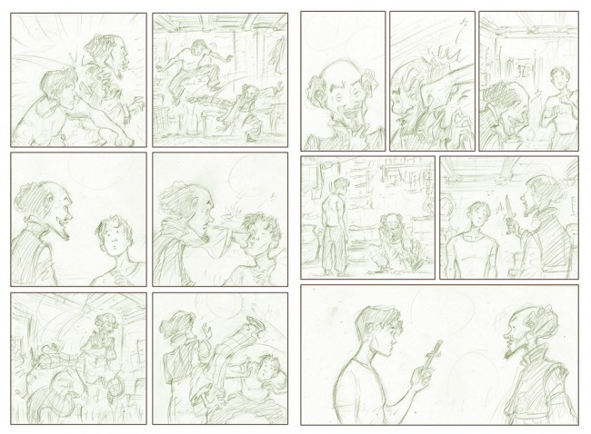 Sonny Liew's pencils for The Shadow Hero