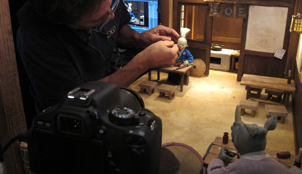 Filming Usagi Yojimbo in stop-motion animation