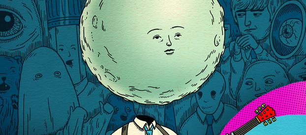Moonhead and the Music Machine (Andrew Rae; Nobrow)