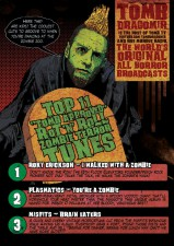 LWTUA - Tombs Top 11 Zombie Terror Tunes art by John Pearson