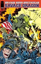 Erik Larsen/Jack Kirby jam art variant cover.