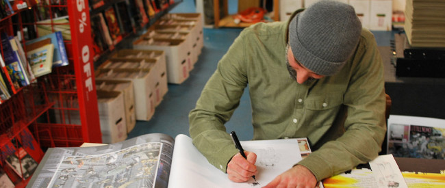 Craig Thompson signing Little Nemo: Dream Another Dream