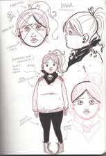 Character sketch by Emi Lenox from Plutona (Image Comics)