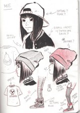 Character sketches by Emi Lenox from Plutona (Image Comics)