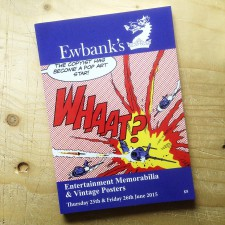 Ewbank's auction catalogue, featuring WHAAT? by Dave Gibbons