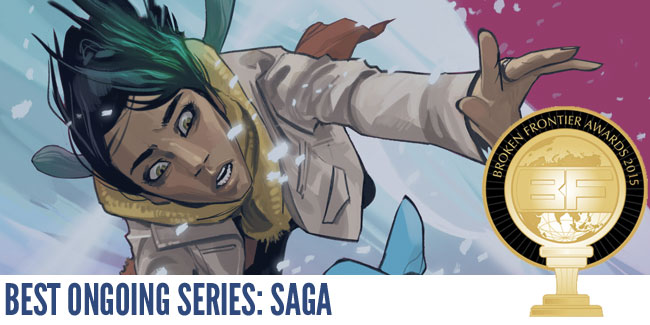 Saga by Brian K Vaughn and Fiona Staples
