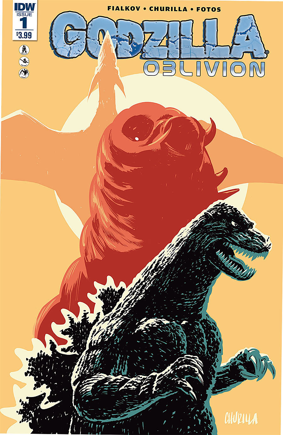 Godzilla-Oblivion #1 - Joshua Fialkov (W), Brian Churilla (A) • IDW Publishing