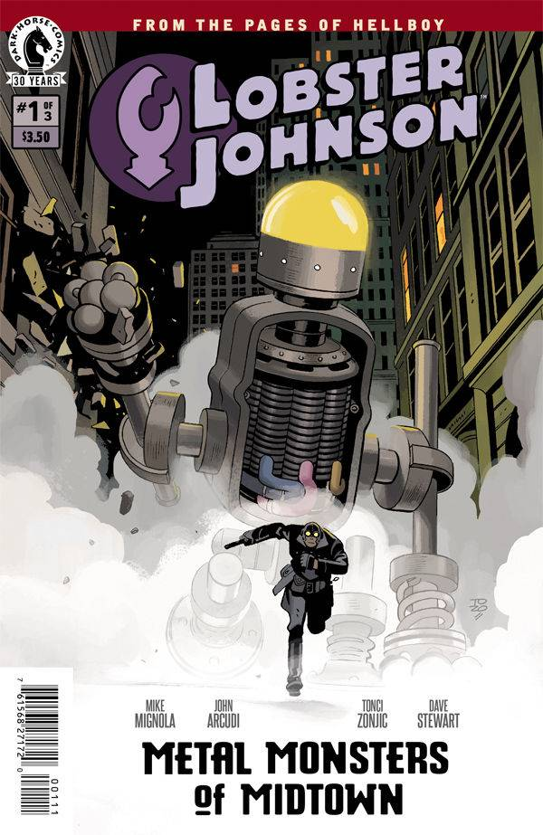 Lobster Johnson: Metal Monsters of Midtown - John Arcudi (W), Tonci Zonjic (A), Dave Stewart (C) • Dark Horse Comics
