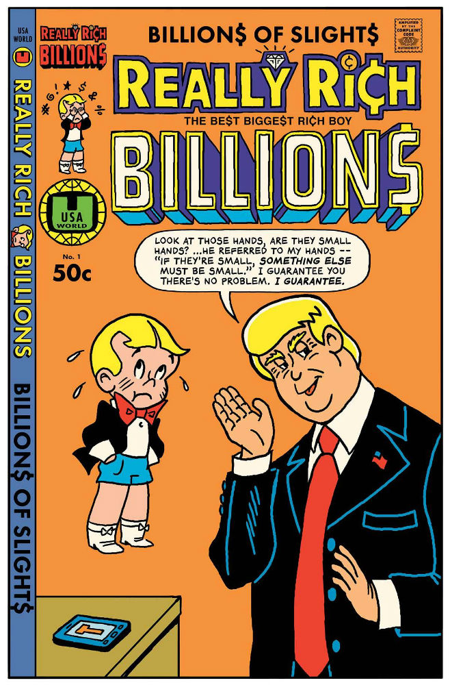 Comic Book Cover Artist Wanted : The unquotable trump real quotes from a life