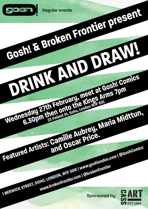084a1d4c4f6 Comics and Broken Frontier Drink and Draw of 2019 is nearly here! And we're  continuing the year with a cracking line-up of small press artists on  Wednesday ...